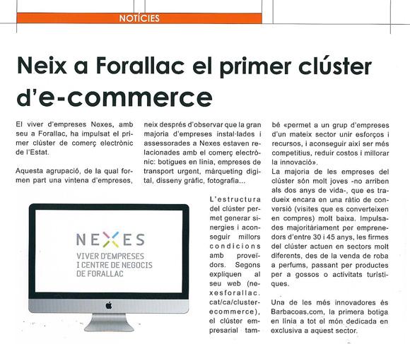 Noticia del Cluster en Empresarial Girona