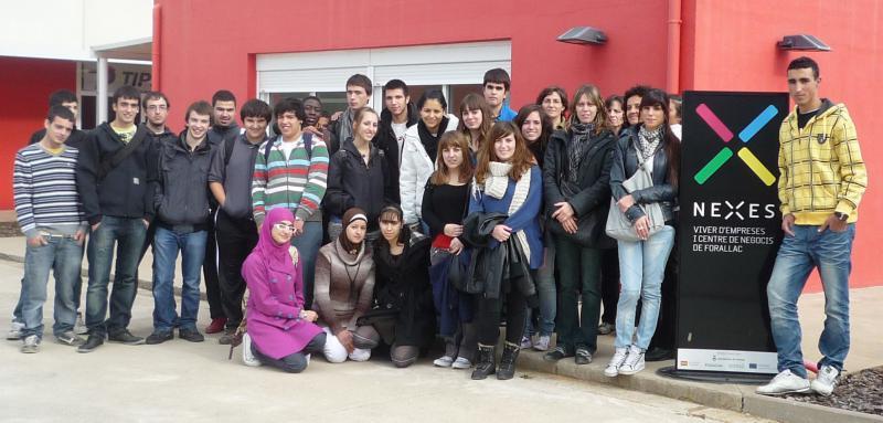 Visita del IES La Bisbal